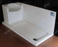 BardelliMario-Piatti doccia - Piatto doccia 172x72 con sedile