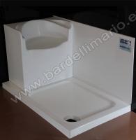 BardelliMario-Piatto doccia con sedile 122x72